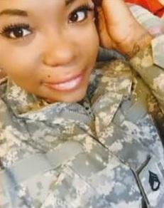 Deserea Hopkins with SSG rank
