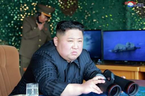 Kim oversees missile firing drills, tells troops to be alert