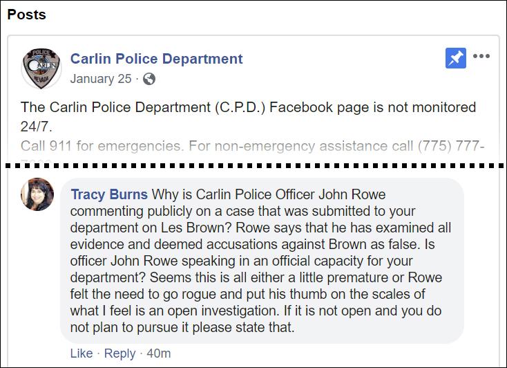 Carlin Police Dept