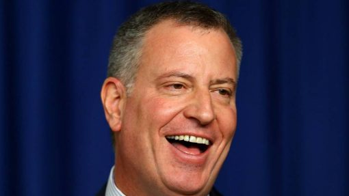 De Blasio is back in town, unfortunatly