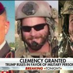 Trump grants clemency to 2 Army officers accused of war crimes, restores Rate to Navy SEAL Eddie Gallagher