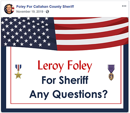 Foley - Any questions?