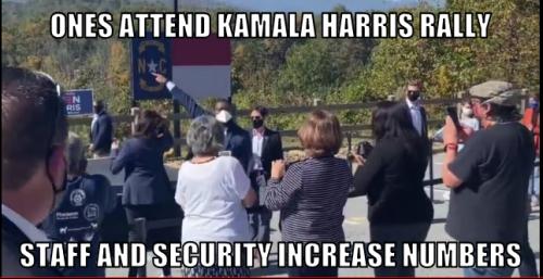 Ones attend Kamala Harris rally.
