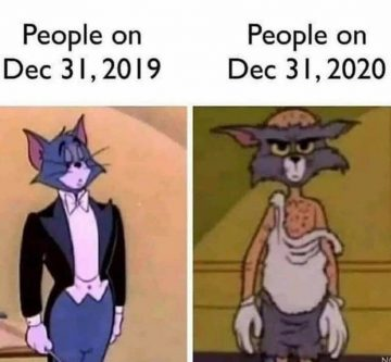 How people felt December 31, 2019 v December 31, 2020