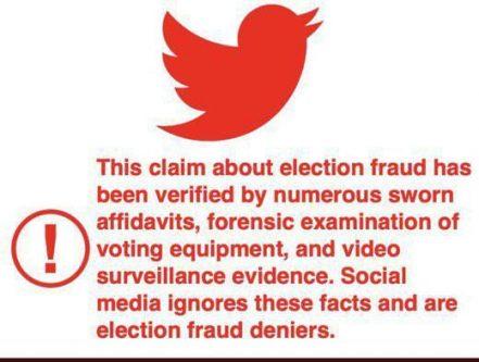 Red twitter bird election theft did hapen