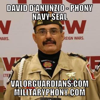 David D'Anunzio phony Navy SEAL